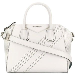 Givenchy Small Antigona Perforated Satchel White
